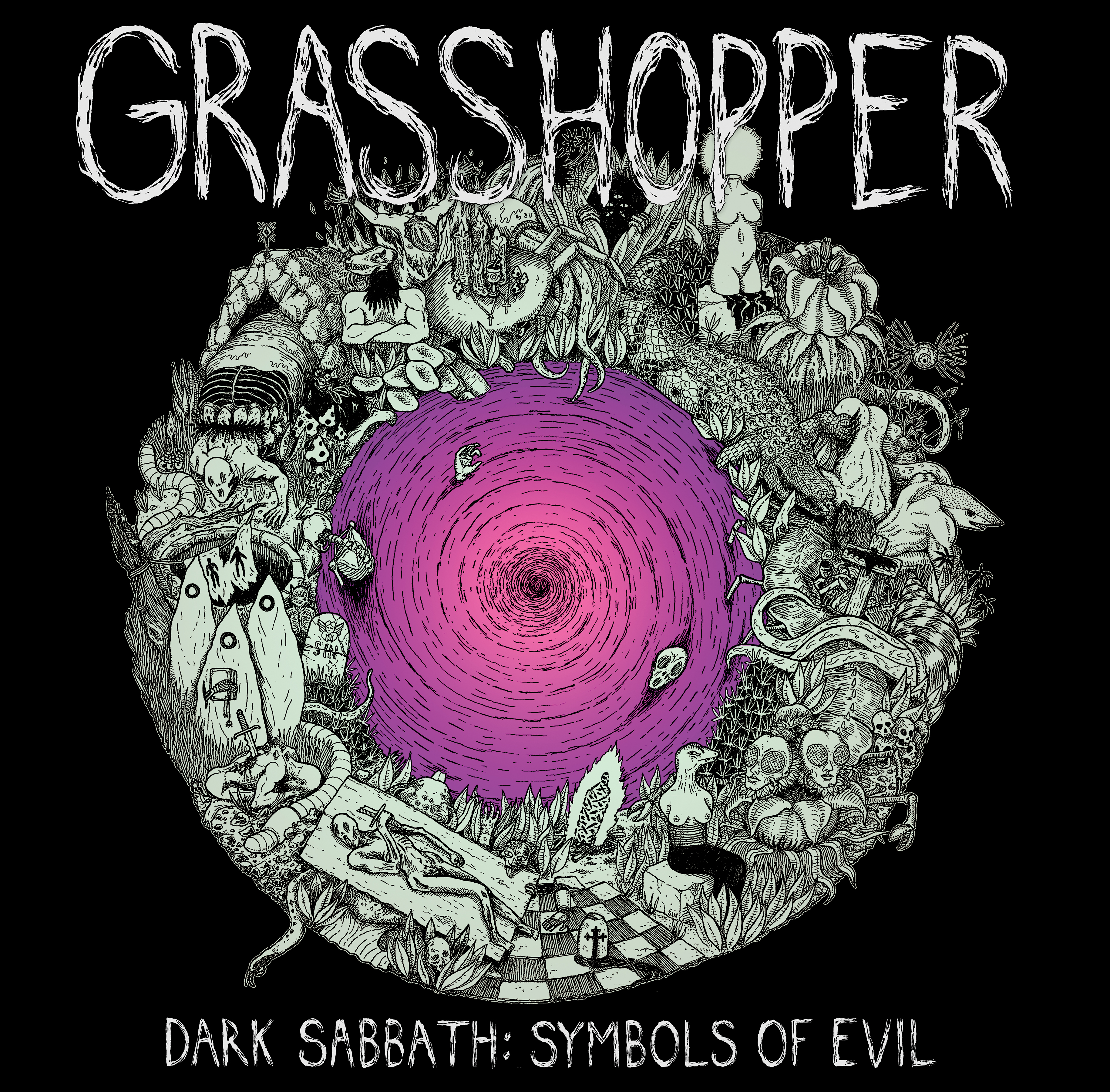 Grasshopper Dark Sabbath Symbols Of Evil Hausu Mountain